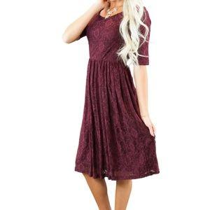Mikarose Burgundy Emmy Dress